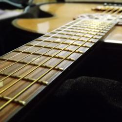 guitare cordes métalliques